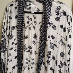 Cream and Black Kimono